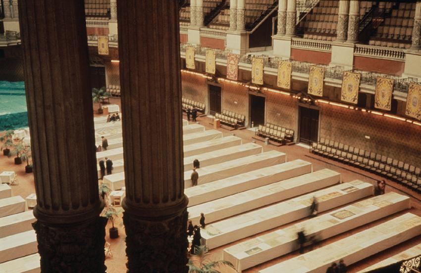 Fotografía de la Exposició Commemorativa del Centenari de l'Escola d'Arquitectura de Barcelona 1875-76/1975-76. Fotografía: Lluís Casals
